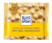 Ritter Sport White Chocolate With Whole Hazelnuts 100g